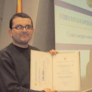 Престижна награда за м-р Душко Јошевски