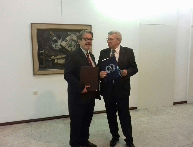 Со претсетдателот на АНУБиХ Академик Трифковиќ
